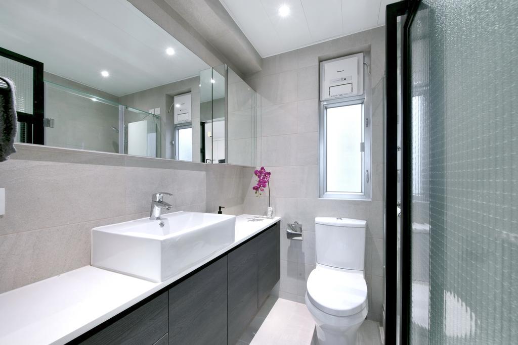 摩登, 私家樓, 浴室, 德福花園, 室內設計師, Space Design, 簡約, Toilet, Indoors, Interior Design, Room, Sink