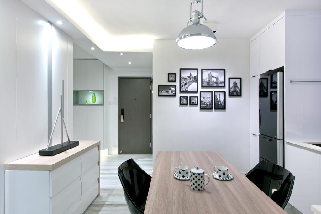 摩登, 私家樓, 飯廳, 德福花園, 室內設計師, Space Design, 簡約, Door, Indoors, Interior Design, Room