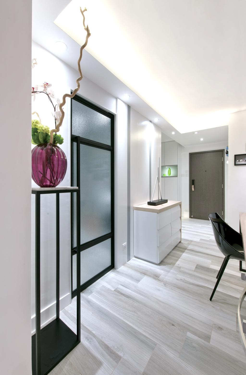 摩登, 私家樓, 客廳, 德福花園, 室內設計師, Space Design, 簡約, Lighting