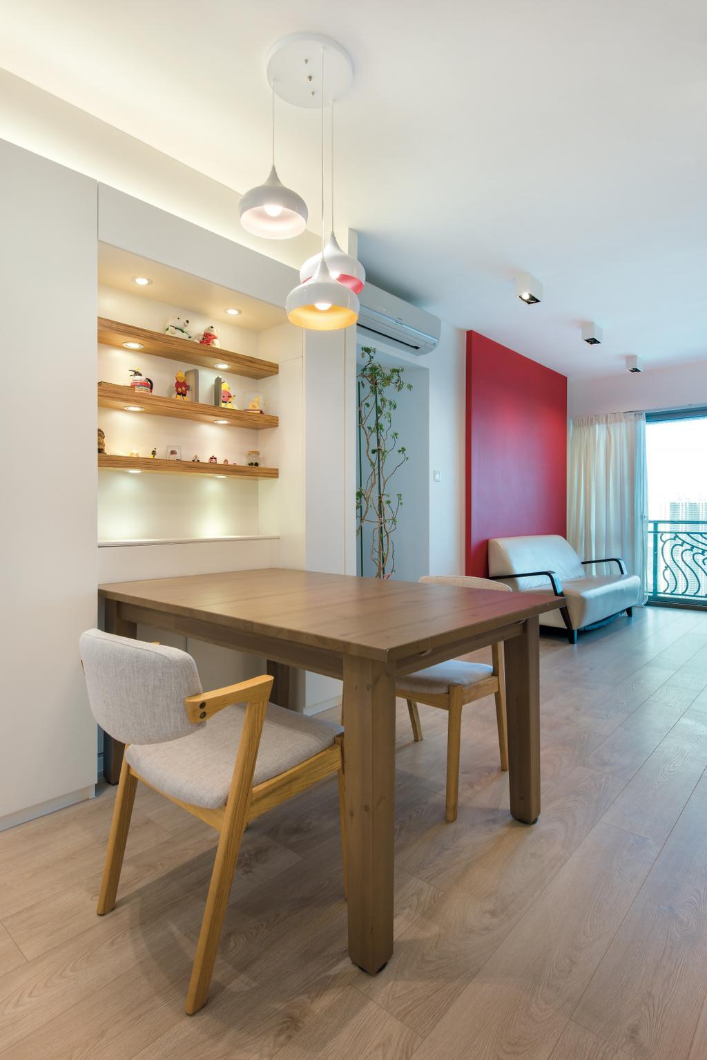 當代, 私家樓, 飯廳, 映灣園, 室內設計師, Space Design, Indoors, Interior Design, Room, Shelf, Dining Table, Furniture, Table, Chair