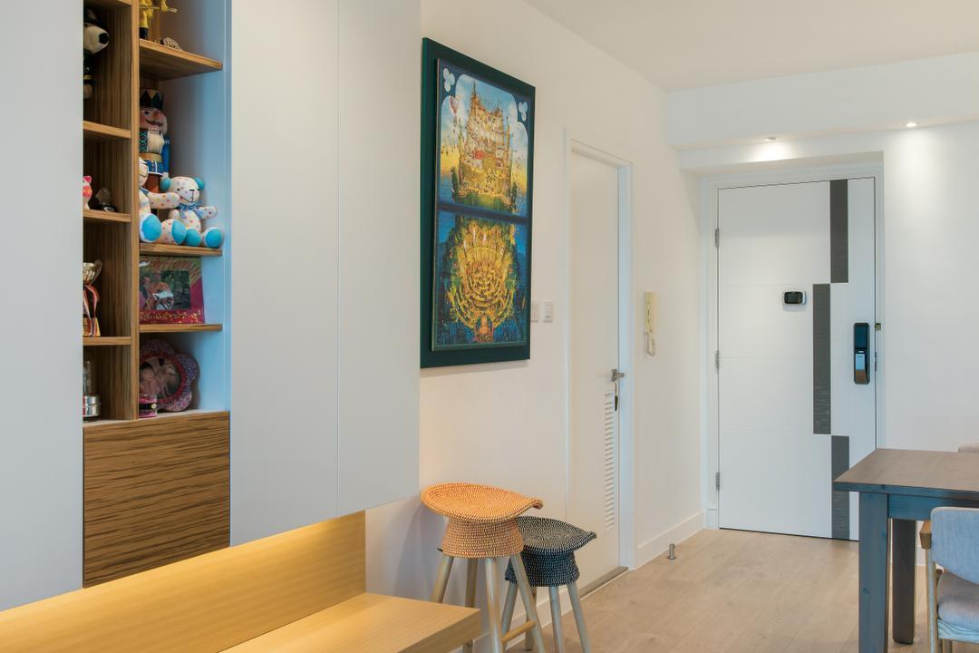 映灣園, Space Design, 當代, 飯廳, 私家樓, Bar Stool, Furniture, Indoors, Interior Design, Room