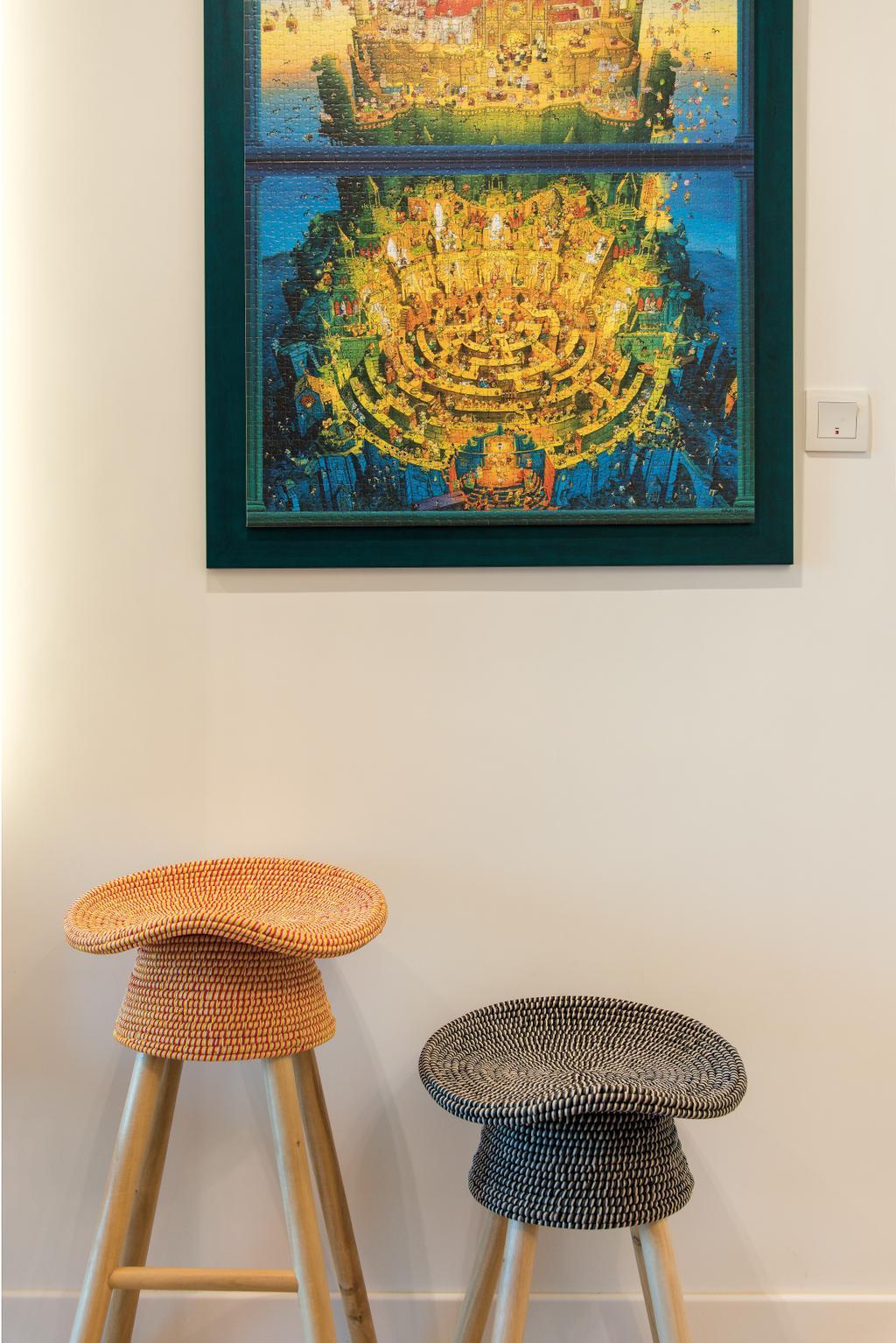 當代, 私家樓, 客廳, 映灣園, 室內設計師, Space Design, Knitting, Art