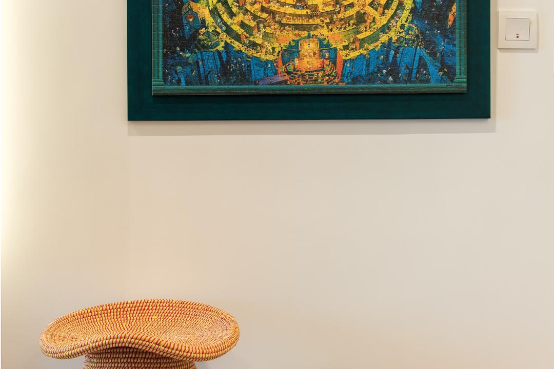映灣園, Space Design, 當代, 客廳, 私家樓, Knitting, Art