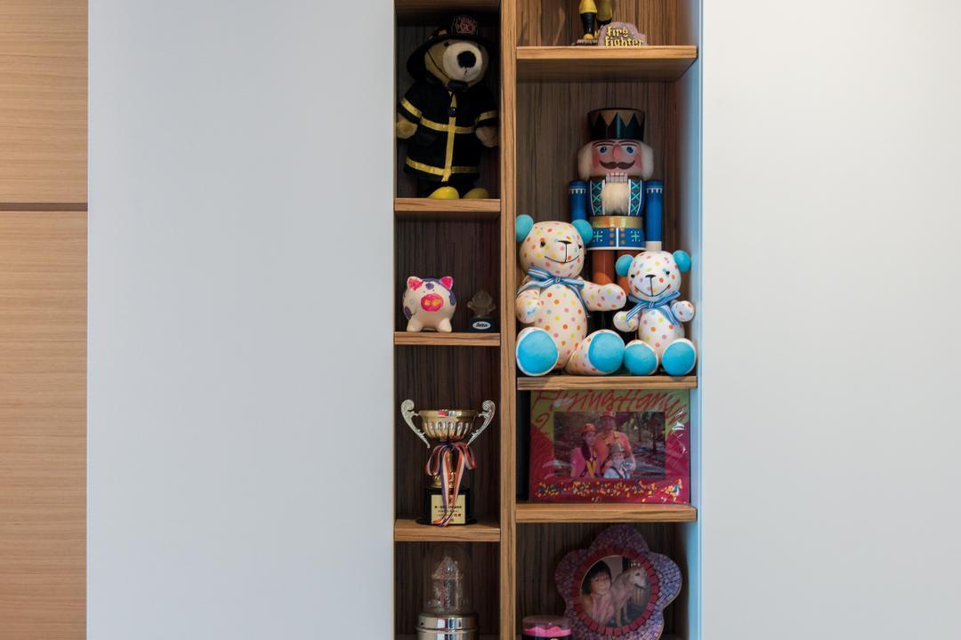 映灣園, Space Design, 當代, 客廳, 私家樓, Trophy, Toy, Shelf, Bookcase, Furniture