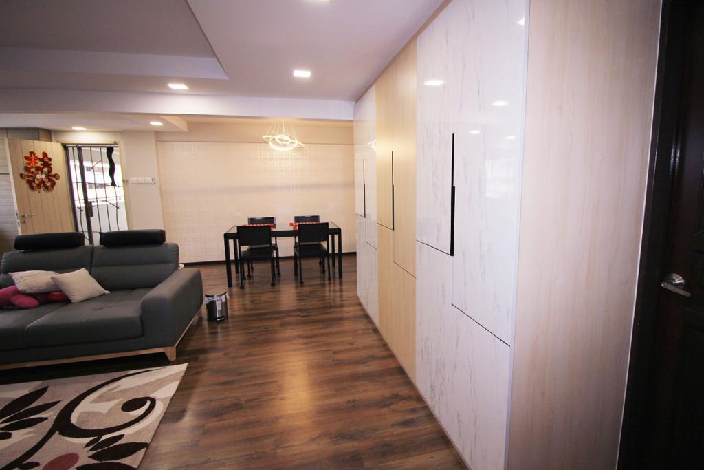Modern, HDB, Living Room, Tampines (Block 843), Interior Designer, EightySeven Studio