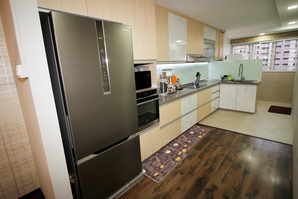 Modern, HDB, Kitchen, Tampines (Block 843), Interior Designer, EightySeven Studio