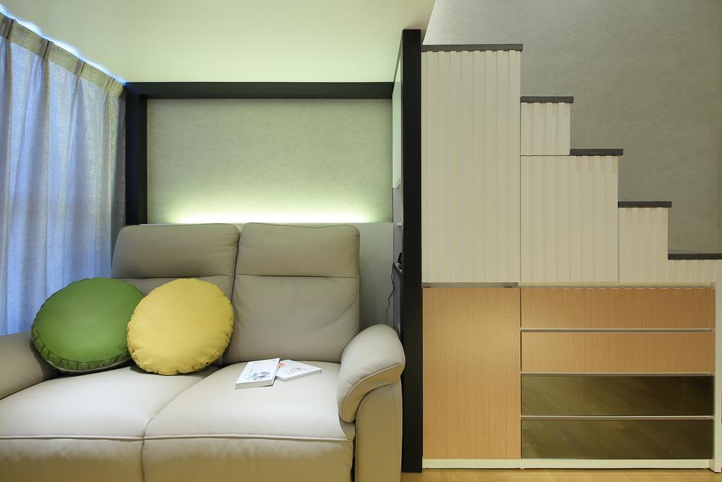摩登, 私家樓, 客廳, 喜點, 室內設計師, Rome Design, Couch, Furniture, Chair, Indoors, Interior Design