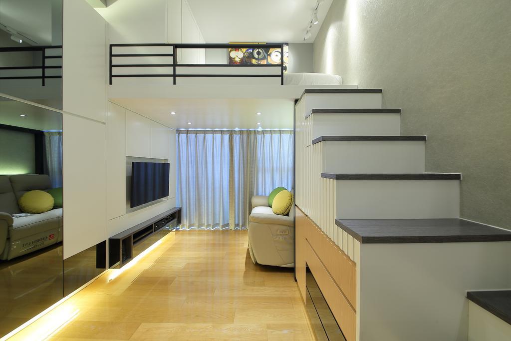 摩登, 私家樓, 客廳, 喜點, 室內設計師, Rome Design, Flooring