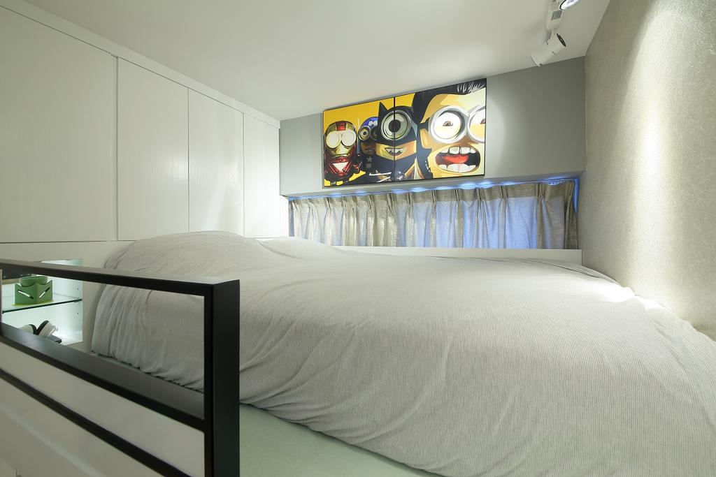 摩登, 私家樓, 睡房, 喜點, 室內設計師, Rome Design, Bed, Furniture, Indoors, Interior Design, Room