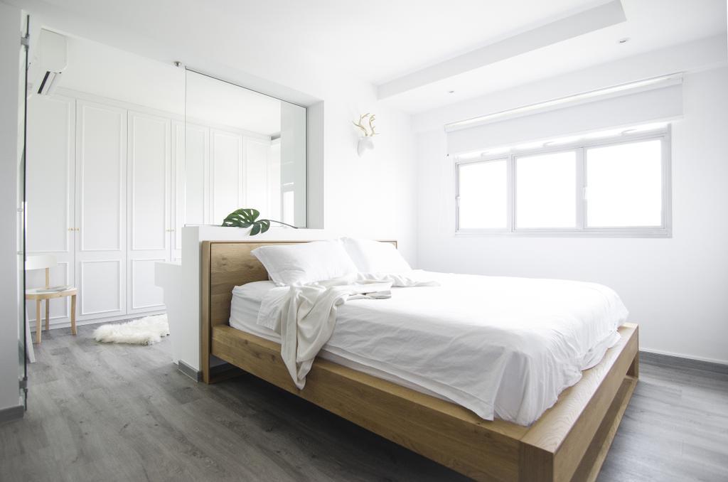 Modern, HDB, Bedroom, Tampines GreenForest, Interior Designer, Free Space Intent, Eclectic, Bed, Furniture, Carpet, Home Decor