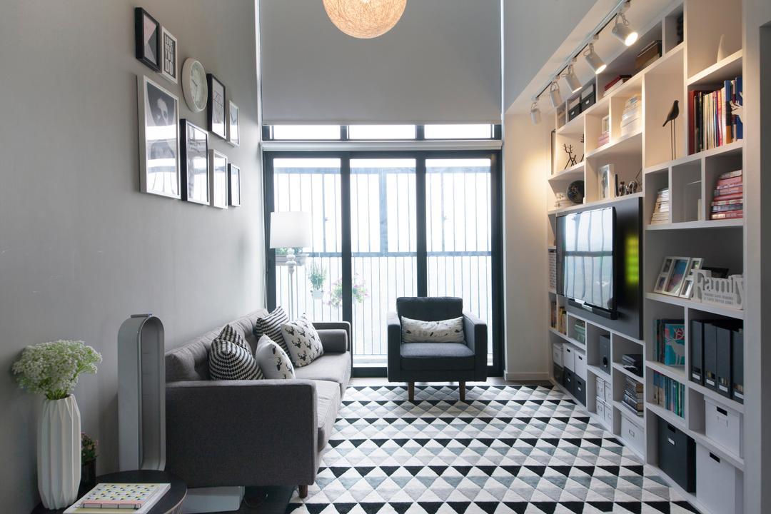 SkyTerrace @ Dawson (Block 89) Living Room Interior Design 1