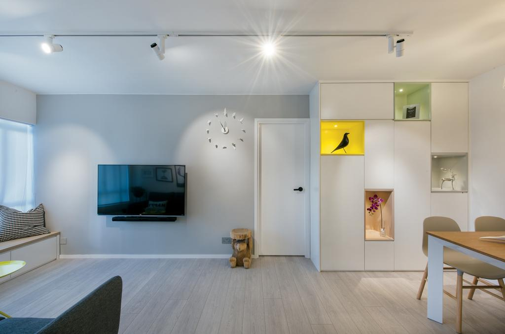 摩登, 公屋/居屋, 客廳, 東駿苑, 室內設計師, Space Design, 北歐, Dining Table, Furniture, Table, Indoors, Interior Design, Flooring