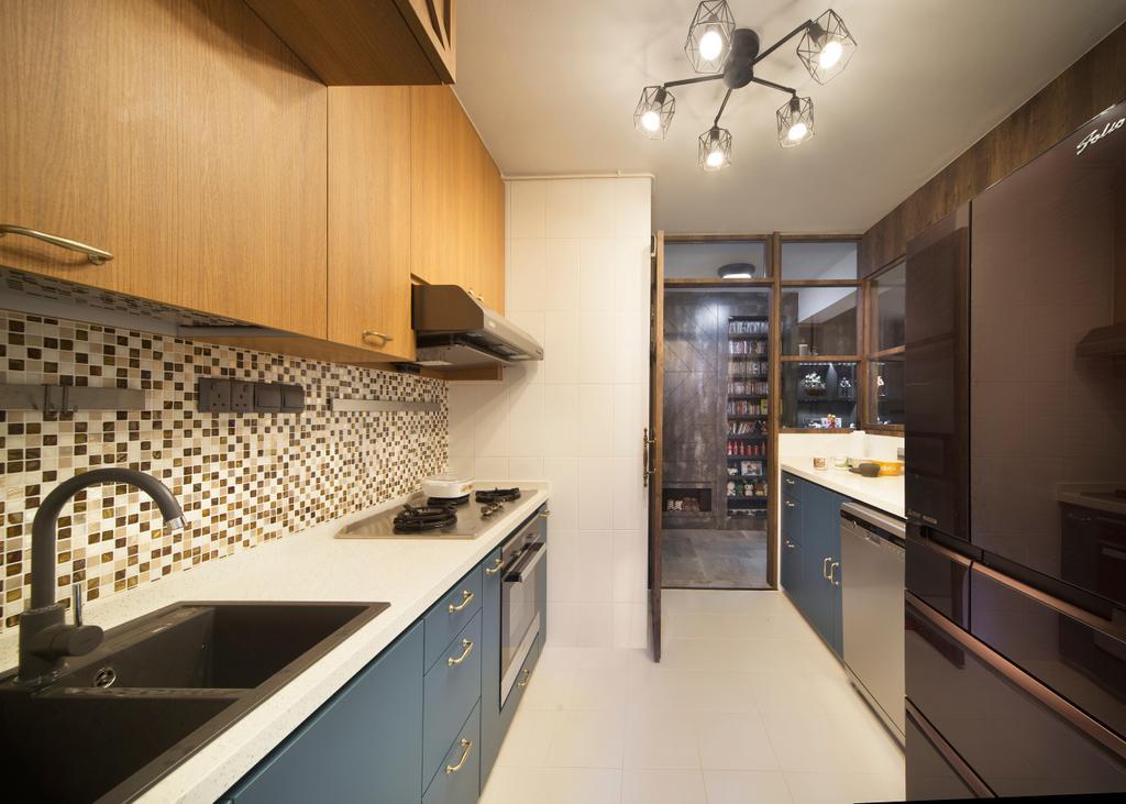 Contemporary, HDB, Kitchen, Clementi Avenue, Interior Designer, Fuse Concept, Indoors, Interior Design