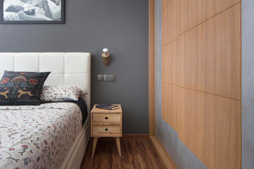 Contemporary, HDB, Bedroom, Clementi Avenue, Interior Designer, Fuse Concept, Cushion, Home Decor, Drawer, Furniture, Indoors, Interior Design, Room, Bed