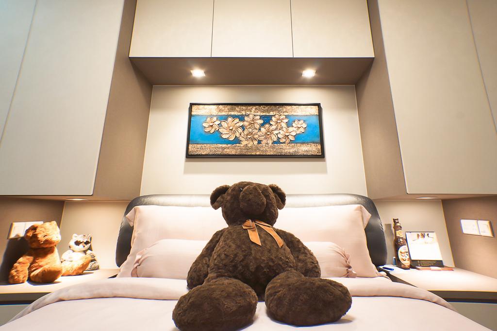 Modern, HDB, Bedroom, Keat Hong Crescent, Interior Designer, Flo Design, Human, People, Person, Indoors, Interior Design, Teddy Bear, Toy, Bed, Furniture