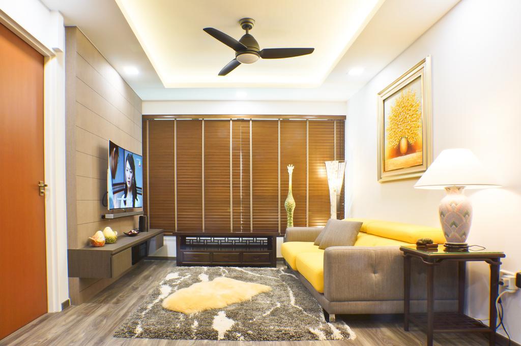 Modern, HDB, Living Room, Keat Hong Crescent, Interior Designer, Flo Design, Propeller, Couch, Furniture, Jar, Pottery, Vase, Indoors, Interior Design