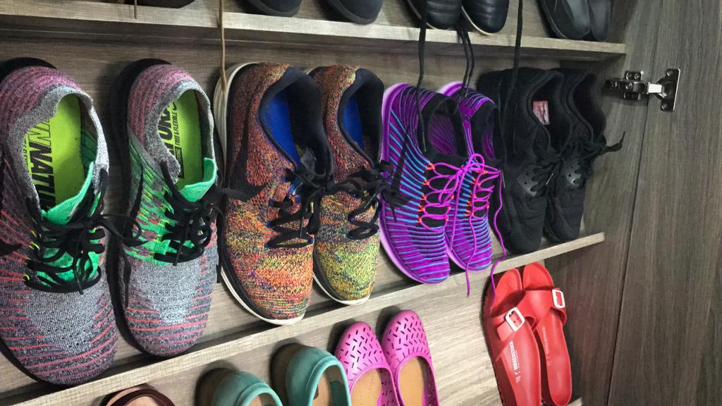 Modern, HDB, Living Room, Pasir Ris, Interior Designer, Flo Design, Luggage, Suitcase, Clothing, Footwear, Shoe