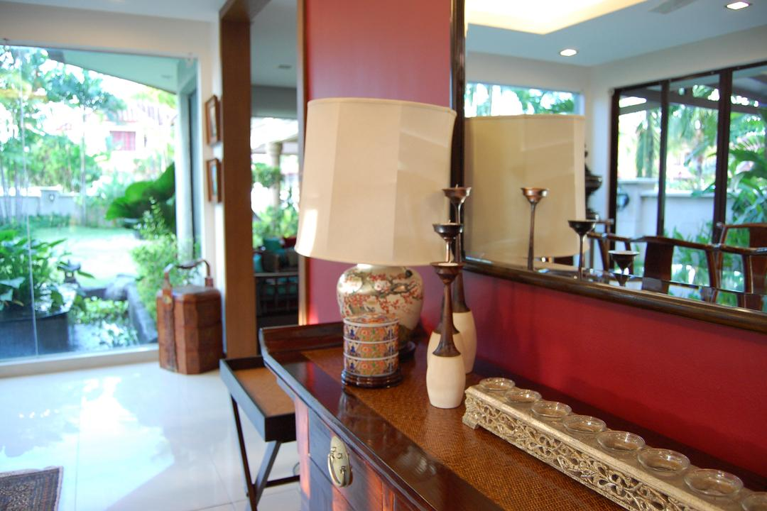 Sunway, Meridian Interior Design, Contemporary, Living Room, Landed, Flora, Jar, Plant, Potted Plant, Pottery, Vase, Hardwood, Stained Wood, Wood, Indoors, Interior Design, Balcony