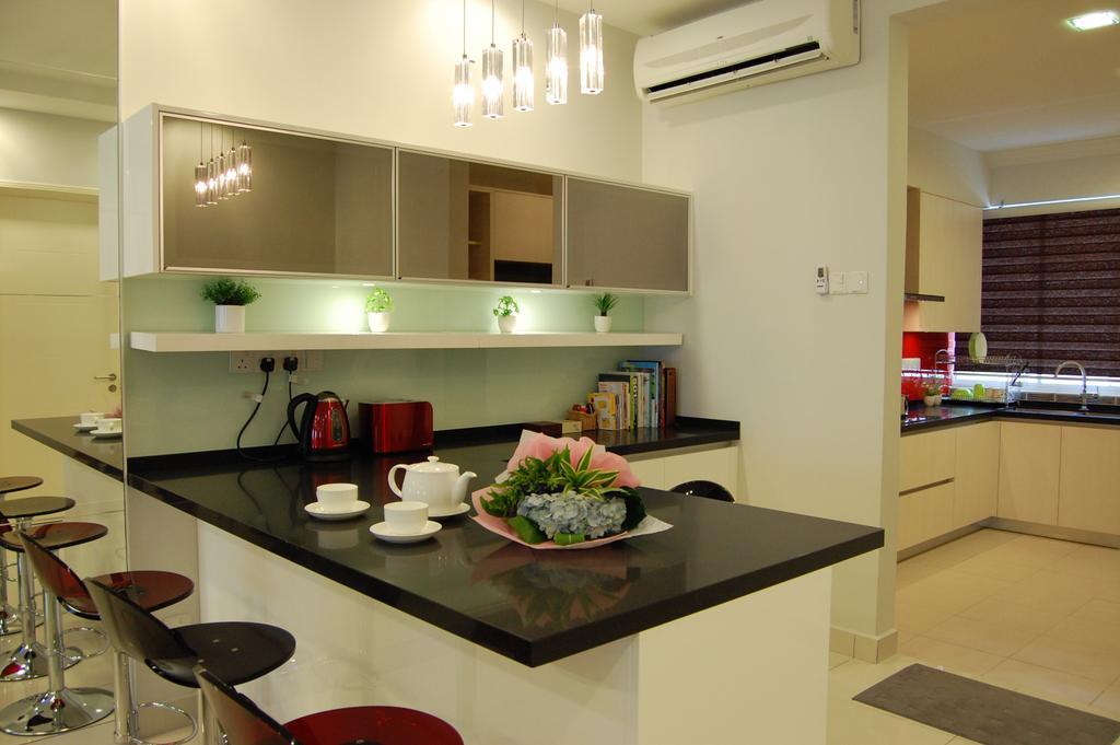 Transitional, Landed, Kitchen, Puchong, Interior Designer, Meridian Interior Design, Dining Room, Indoors, Interior Design, Room, Dining Table, Furniture, Table, Flooring