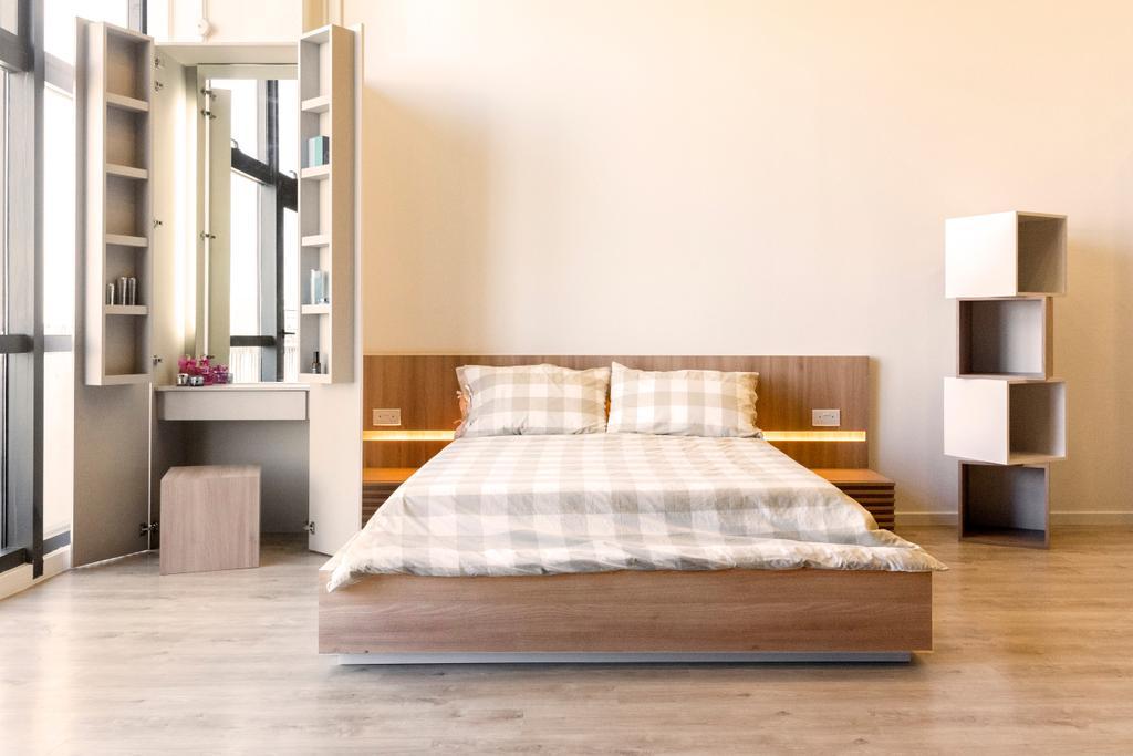 Charlotte's Carpentry Showroom, Commercial, Interior Designer, Charlotte's Carpentry, Scandinavian, Minimalistic, Bedroom, Bed, Furniture