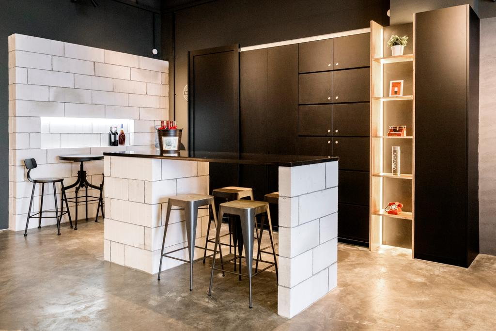 Charlotte's Carpentry Showroom, Commercial, Interior Designer, Charlotte's Carpentry, Scandinavian, Minimalistic, Dining Room, Chair, Furniture, Door, Sliding Door