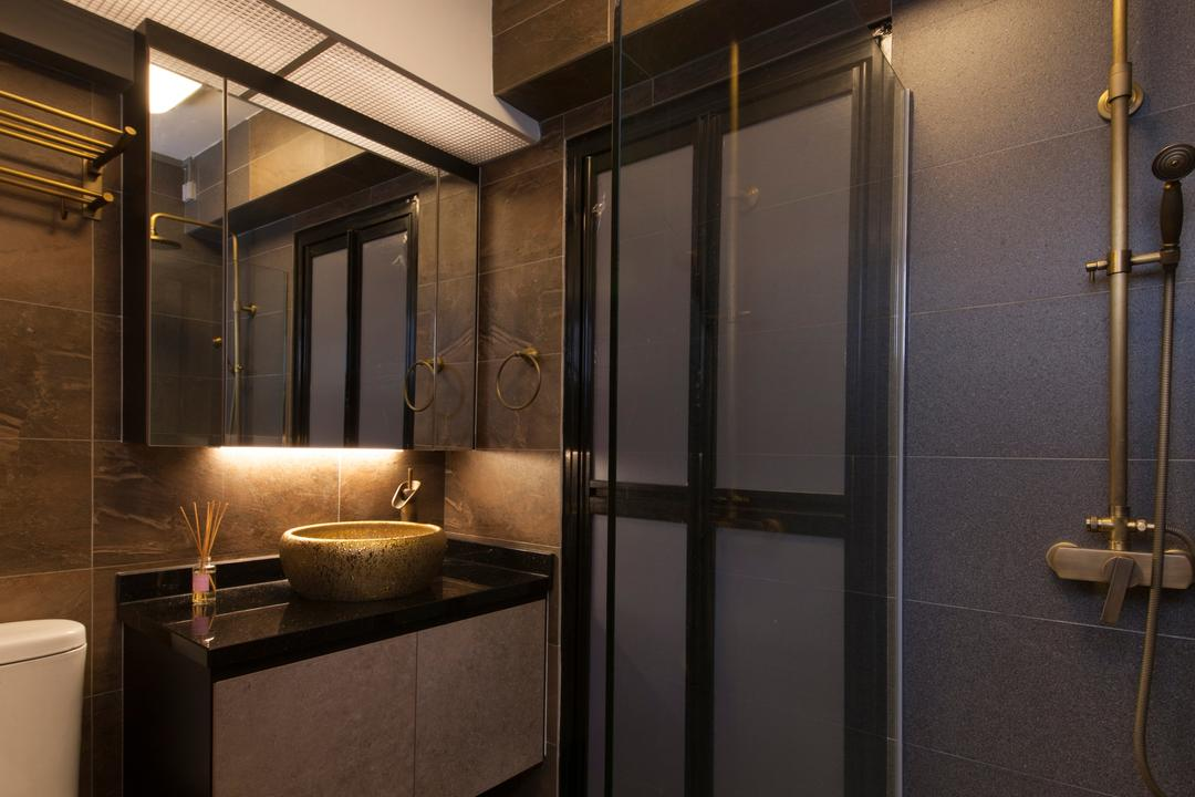 Punggol Drive (Block 664A), Starry Homestead, Industrial, Bathroom, HDB, Indoors, Interior Design, Room, Cross, Emblem