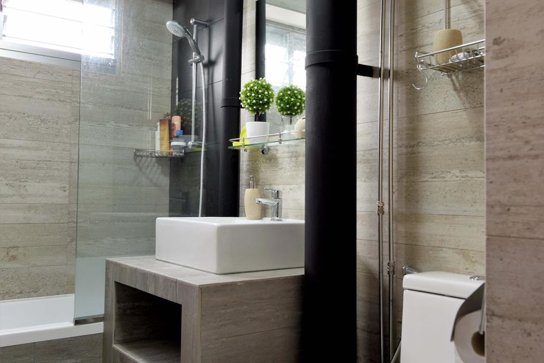 Bedok North Avenue 3, Starry Homestead, Modern, Scandinavian, Bathroom, HDB, Architecture, Building, Column, Pillar, Indoors, Interior Design, Room