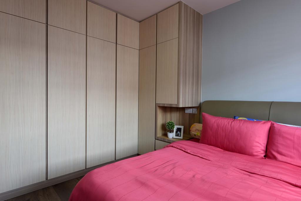 Modern, HDB, Bedroom, Bedok North Avenue 3, Interior Designer, Starry Homestead, Scandinavian, Indoors, Interior Design, Room, Bed, Furniture