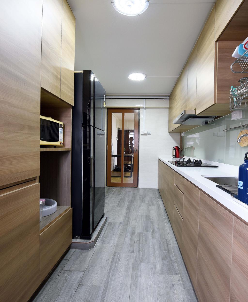 Modern, HDB, Kitchen, Bedok North Avenue 3, Interior Designer, Starry Homestead, Scandinavian, Indoors, Interior Design