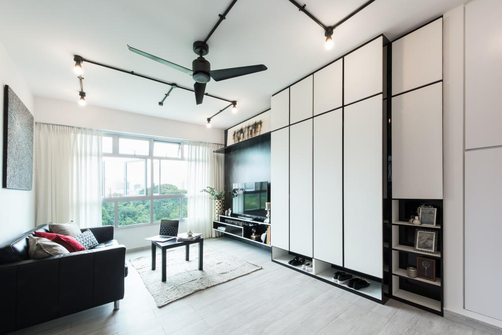 Modern, HDB, Living Room, Telok Blangah, Interior Designer, A.RK Interior Design, Window, Building, Housing, Indoors, Loft, Coffee Table, Furniture, Table