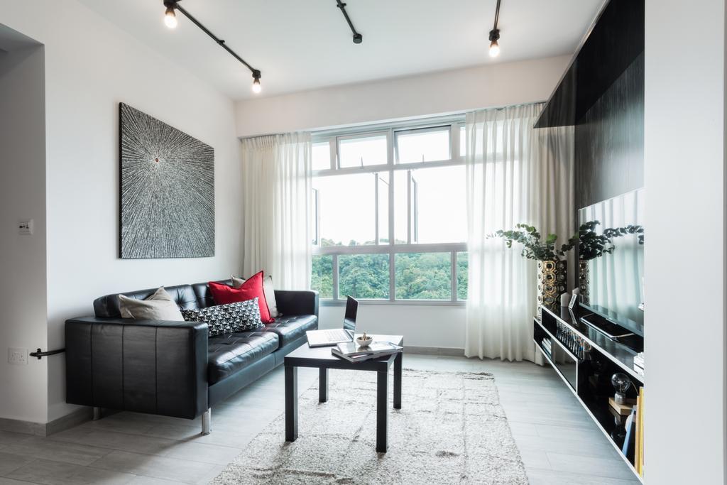 Modern, HDB, Living Room, Telok Blangah, Interior Designer, A.RK Interior Design, Window, Indoors, Room