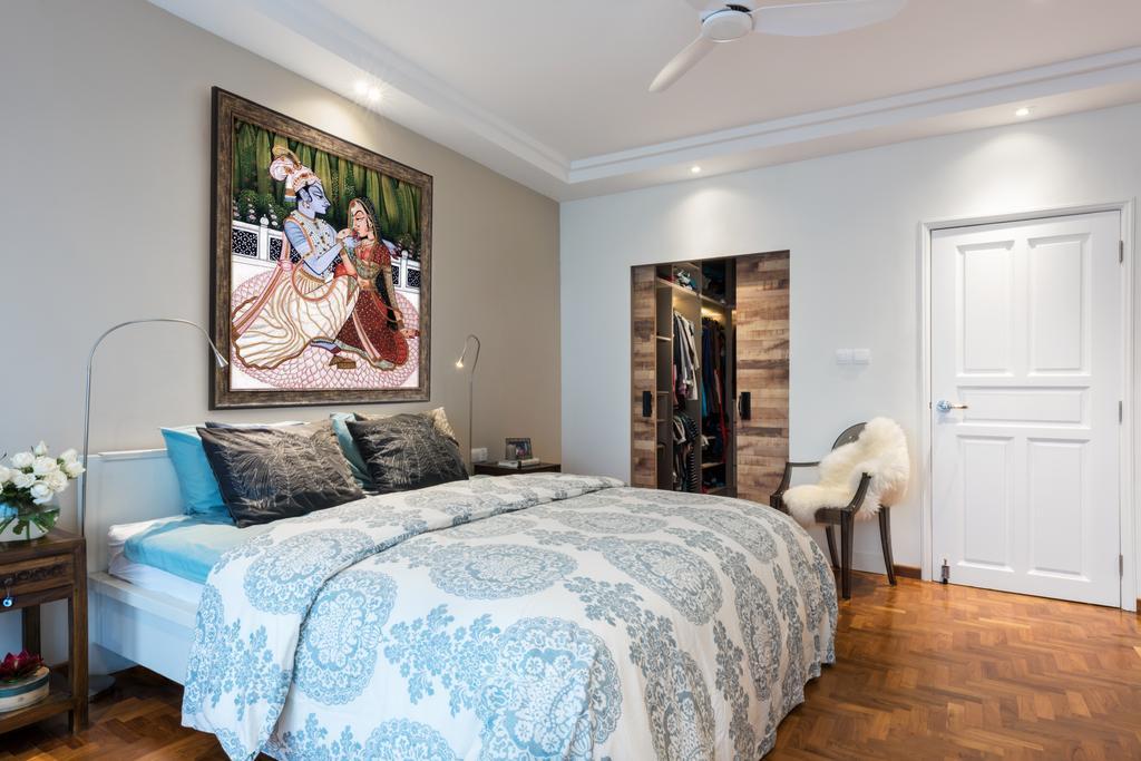 Modern, Landed, Bedroom, Onan, Interior Designer, A.RK Interior Design, Bed, Furniture, Indoors, Interior Design, Room, Door