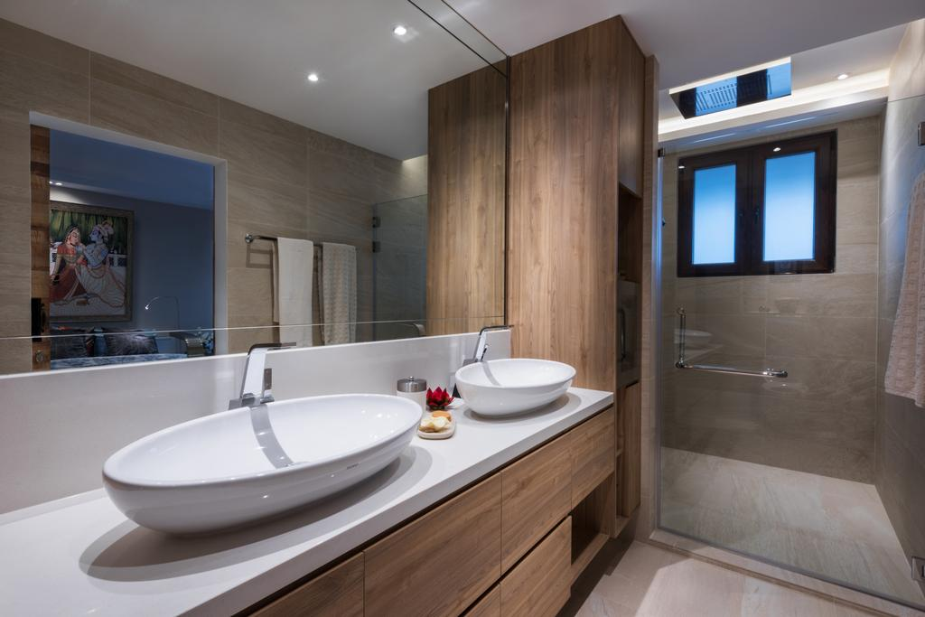 Modern, Landed, Bathroom, Onan, Interior Designer, A.RK Interior Design, Indoors, Interior Design, Room, Architecture, Building, Skylight, Window