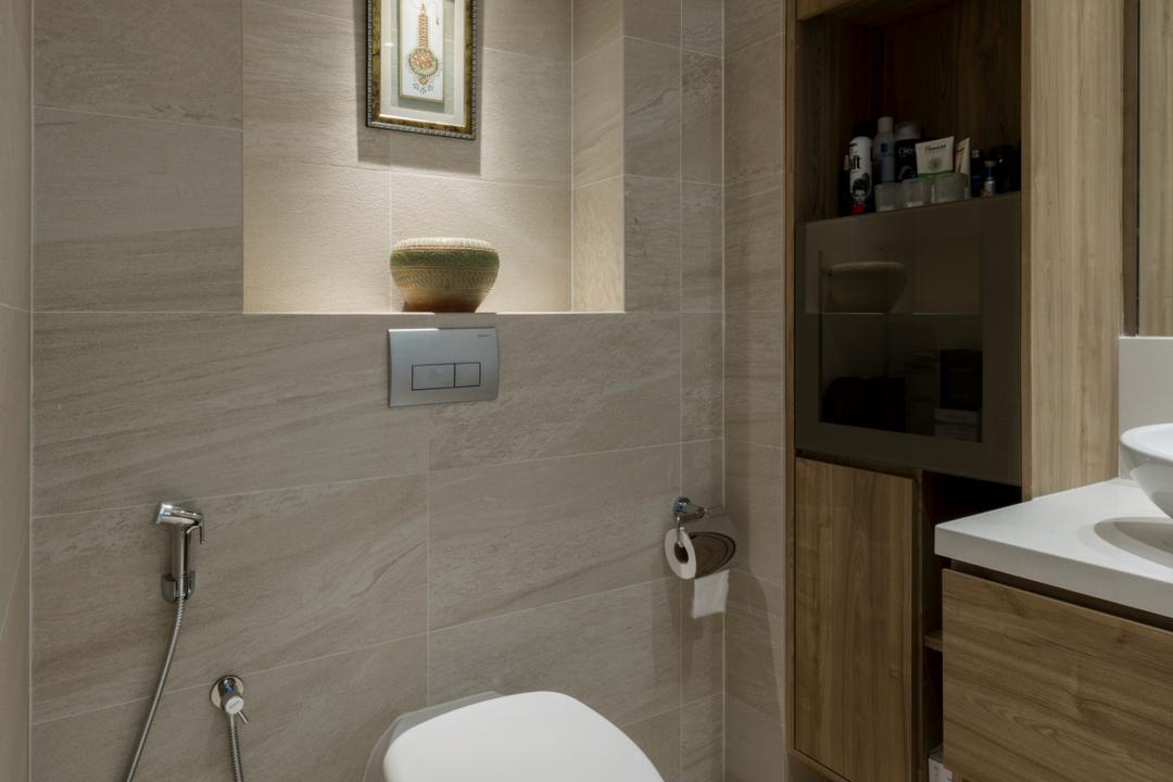 Onan, A.RK Interior Design, Modern, Bathroom, Landed, Sink, Cabinet, Furniture, Medicine Chest, Indoors, Interior Design, Room, Toilet