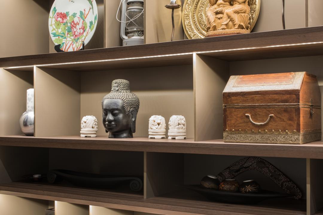Onan, A.RK Interior Design, Modern, Living Room, Landed, Shelf, Pottery, Bust