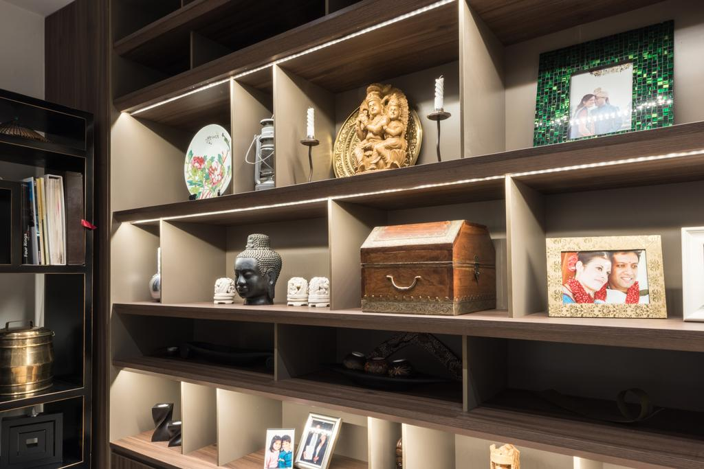 Modern, Landed, Living Room, Onan, Interior Designer, A.RK Interior Design, Shelf, Bookcase, Furniture