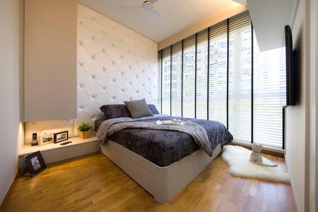 Modern, Condo, Bedroom, Tampines Trilliant, Interior Designer, M3 Studio, Hardwood, Wood, Indoors, Interior Design, Room