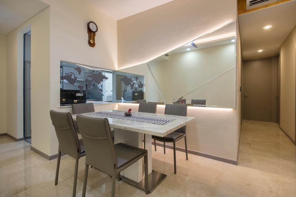 Contemporary, Condo, Dining Room, Stratum, Interior Designer, Weiken.com, Chair, Furniture, Dining Table, Table, Corridor, Indoors, Room, Interior Design
