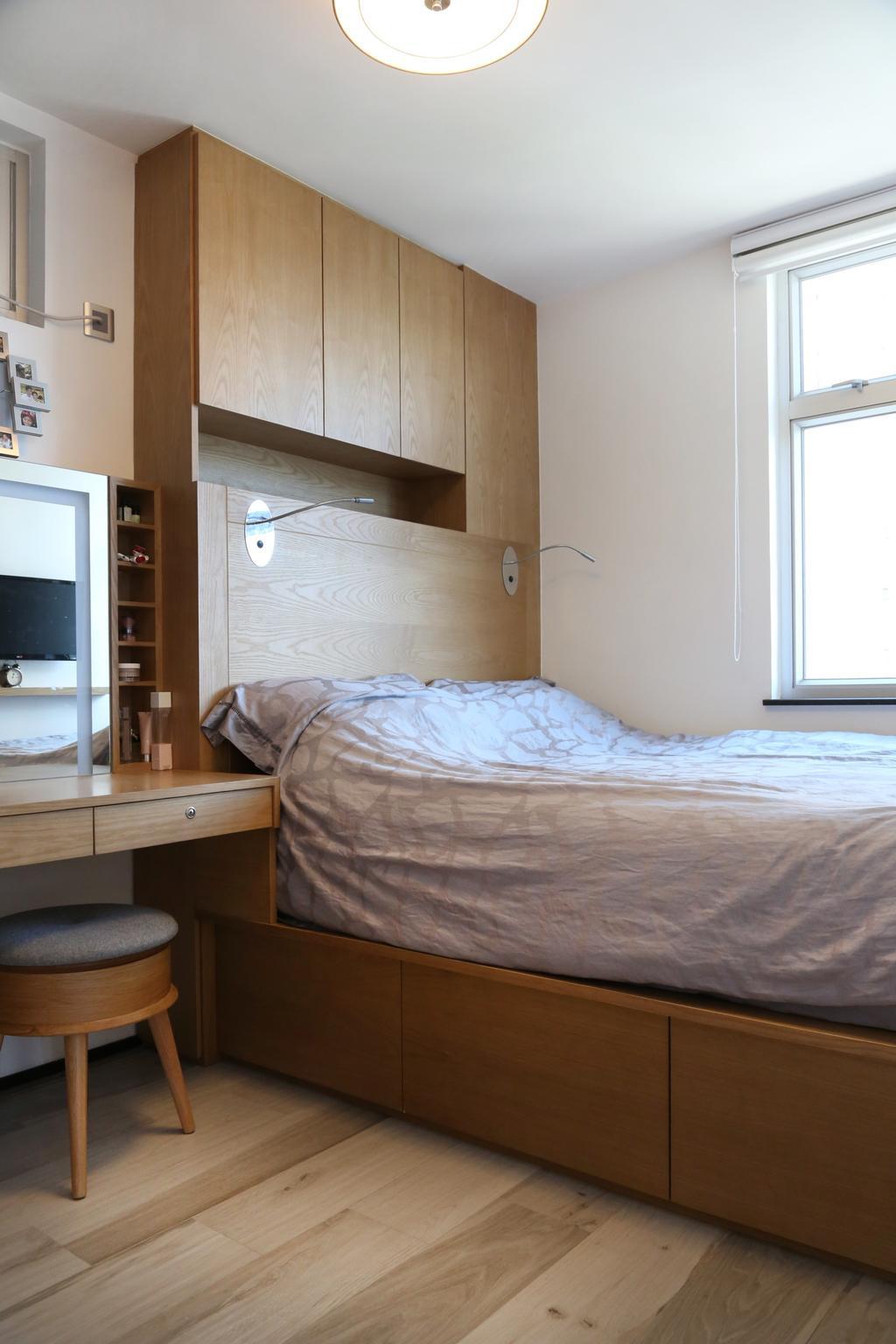 簡約, 私家樓, 睡房, 太古城, 室內設計師, KOO interior design, 北歐, Bed, Furniture, Electronics, Entertainment Center