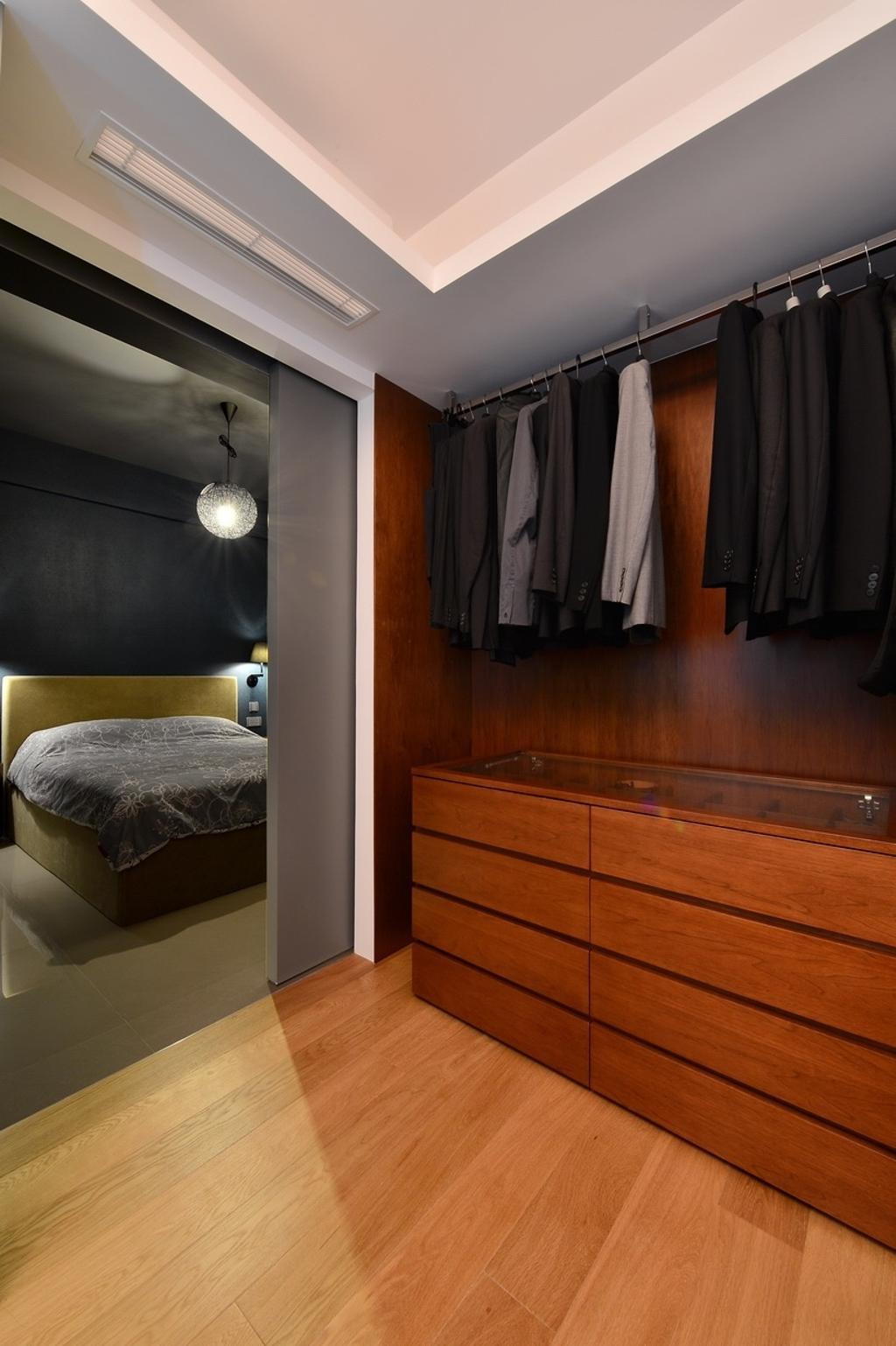 摩登, 私家樓, 睡房, 尚御, 室內設計師, KOO interior design, Closet, Furniture, Wardrobe