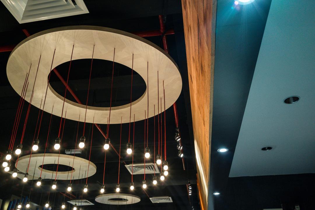 Food Court @ UNITAR, Think Studio, Contemporary, Commercial, Pendant Lamp, Pendant Lighting, Hanging Lamp, Lighting, Circular Lighting, Stage