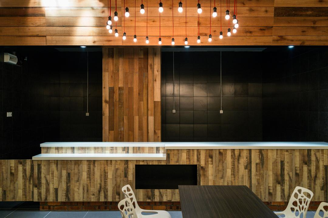 Food Court @ UNITAR, Think Studio, Contemporary, Commercial, Pendant Lighting, Pendant Lamp, Hanging Lighting, Dinign Table, Dining Chair, Wood Panels, Panelling, Wood, Feature Wall, Blackboard