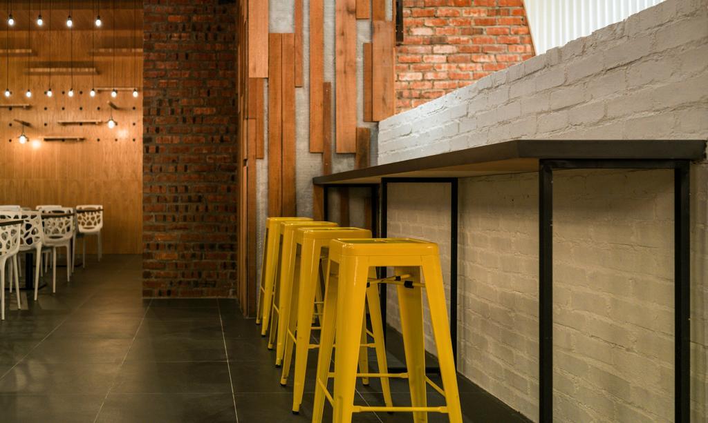 Food Court @ UNITAR, Commercial, Interior Designer, Think Studio, Contemporary, Bar Stools, High Stools, Stools, Brick Walls, Wood Panels, Wood Panelling, Industrial, Raw, Bar Stool, Furniture, Chair