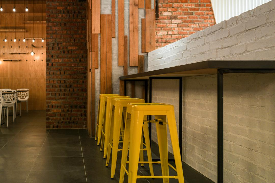 Food Court @ UNITAR, Think Studio, Contemporary, Commercial, Bar Stools, High Stools, Stools, Brick Walls, Wood Panels, Wood Panelling, Industrial, Raw, Bar Stool, Furniture, Chair