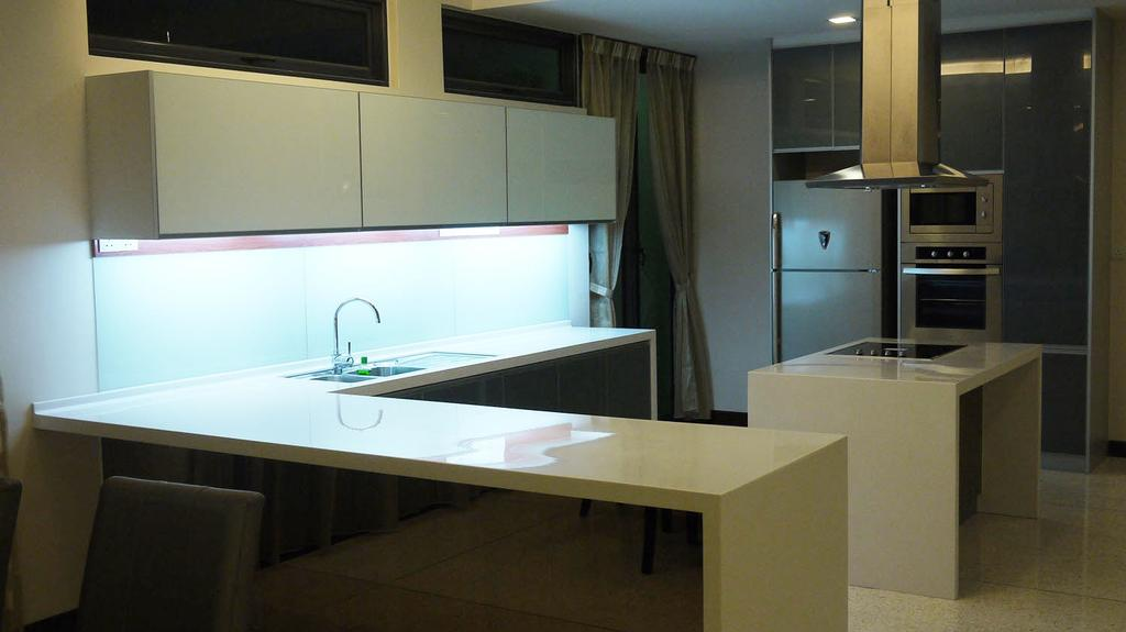 Modern, Landed, Kitchen, 7 Jalan Pelata, Interior Designer, Minterior Project Sdn Bhd, Couch, Furniture, Sink, Appliance, Electrical Device, Oven, Indoors, Interior Design, Room