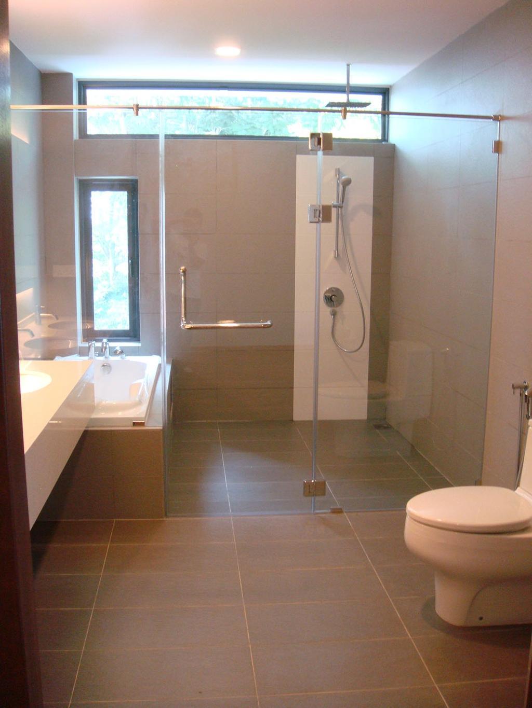 Modern, Landed, Bathroom, 7 Jalan Pelata, Interior Designer, Minterior Project Sdn Bhd, Toilet, Indoors, Interior Design, Room, Apartment, Building, Housing, Tile
