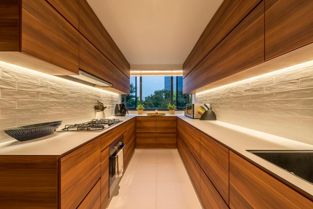 Contemporary, Condo, Kitchen, Interlace, Interior Designer, Project Guru, Indoors, Interior Design, Corridor