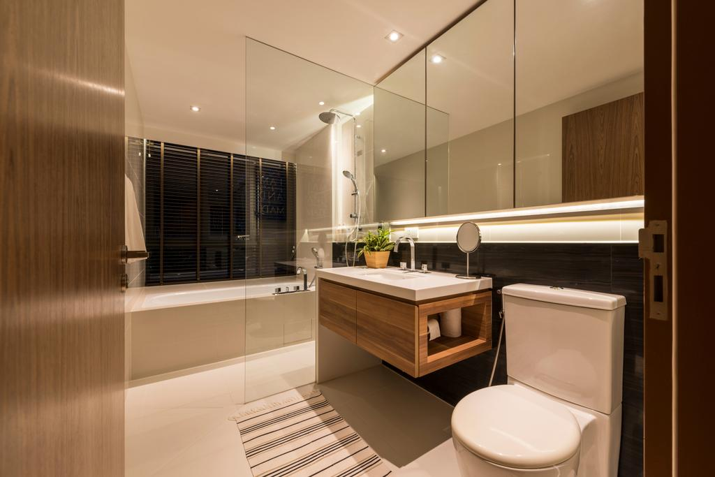 Contemporary, Condo, Bathroom, Interlace, Interior Designer, Project Guru, Sink, Indoors, Interior Design, Room, Toilet