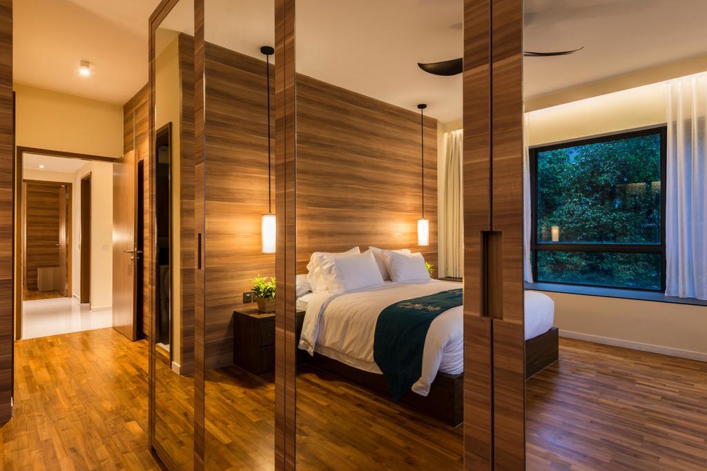 Contemporary, Condo, Bedroom, Interlace, Interior Designer, Project Guru, Flooring, Bed, Furniture, Hardwood, Wood