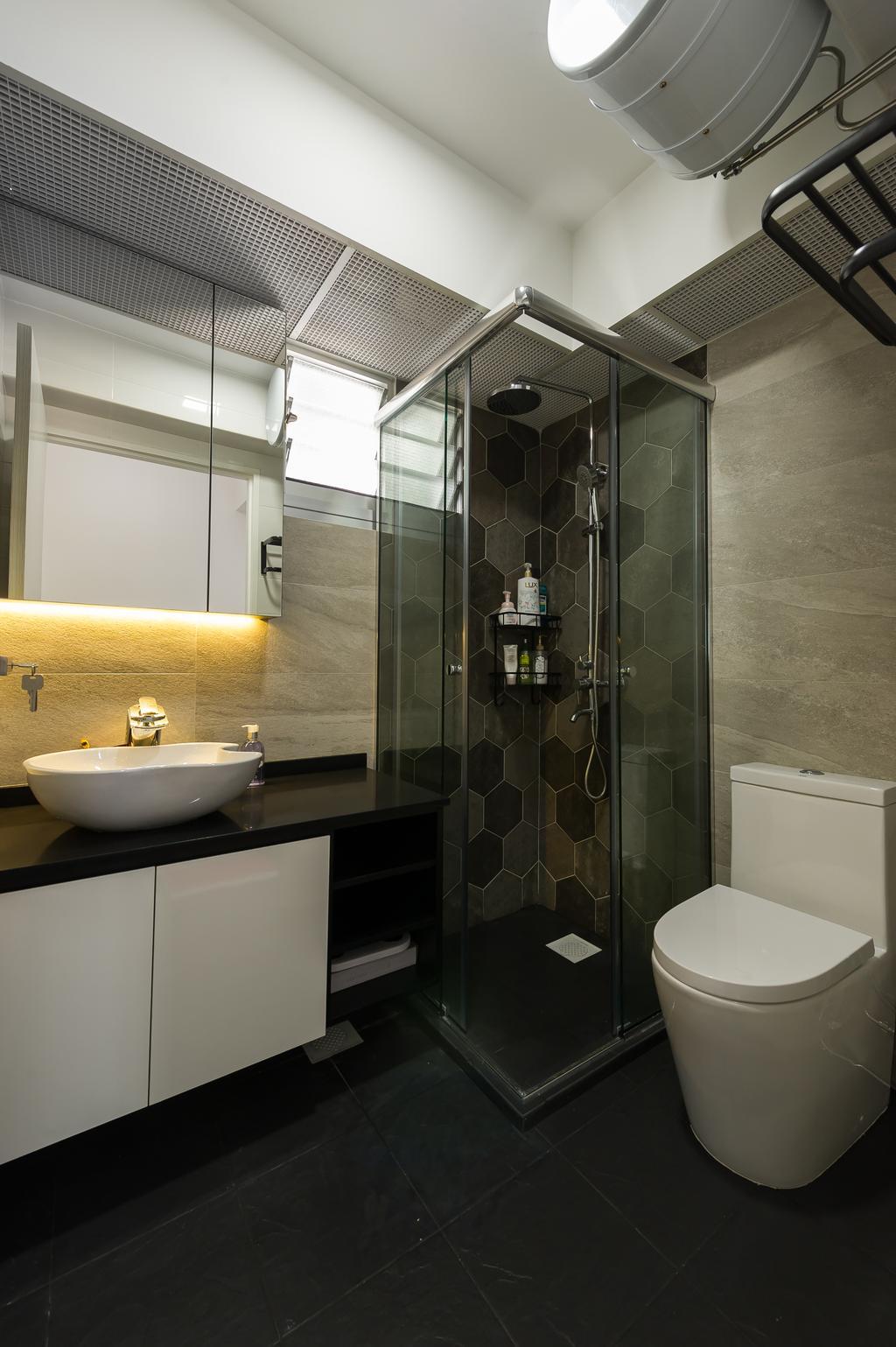 Modern, HDB, Bathroom, Toa Payoh (Block 130B), Interior Designer, ELPIS Interior Design, Scandinavian, Indoors, Interior Design, Room, Sink